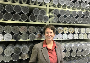 Dr. Lindsay Powers, Technical Director of the National Ice Core Laboratory (NICL)