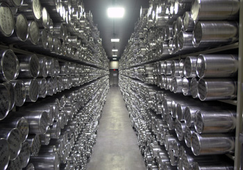 The main archive freezer at the National Ice Core Laboratory