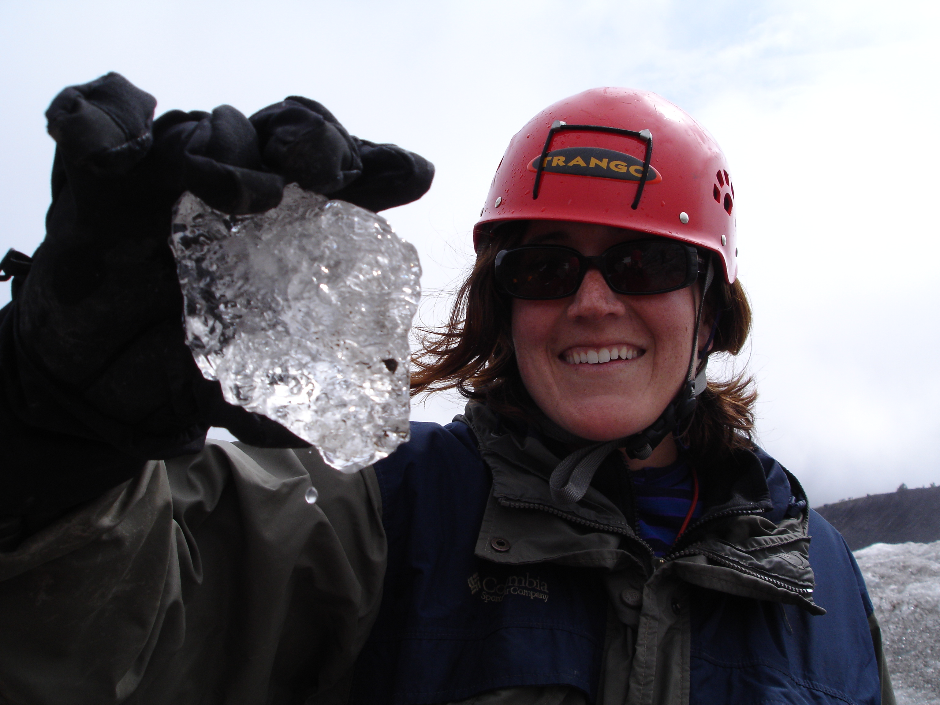 Instructor Sarah (Girls on Ice 2006) examines a single ice crystal