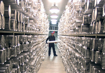 Inside the NICL main archive freezer