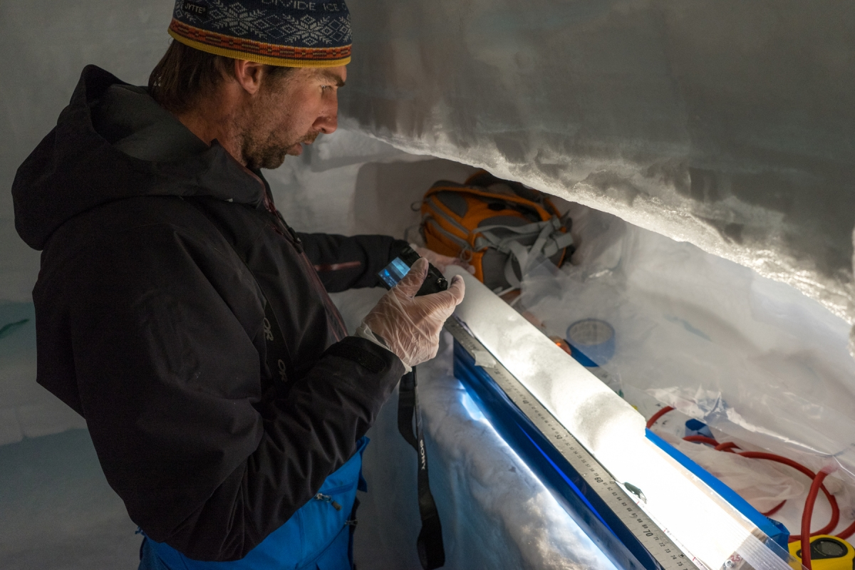 Ice core processing on the Eclipse Icefield, 2016