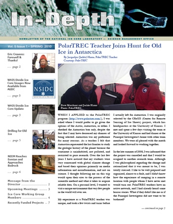 Cover of newsletter